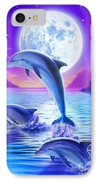 Day Of The Dolphin IPhone Case by Robin Koni