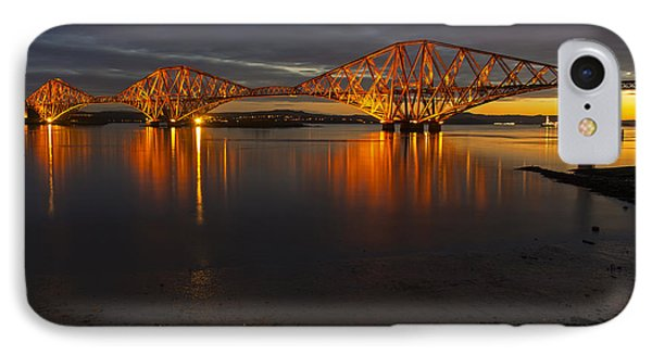 Daybreak At The Forth Bridge IPhone Case by Ross G Strachan