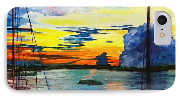 Daybreak Over  Apalachicola River  IPhone Case by Ecinja Art Works