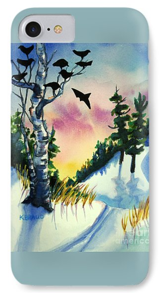 Daybreak Ski              IPhone Case by Kathy Braud