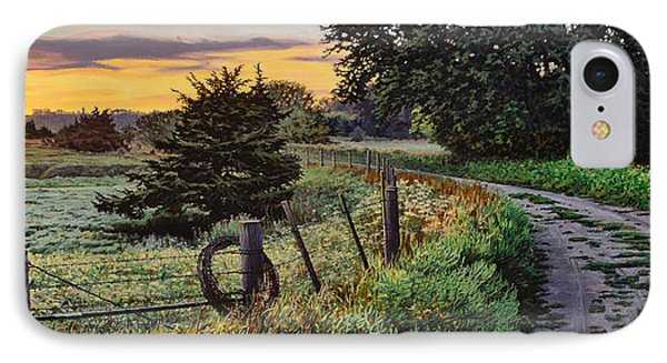 Daybreak Southwest Corner Fenceline IPhone Case by Bruce Morrison