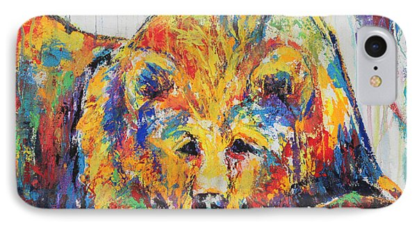 IPhone Case featuring the painting Daydreaming Bear by Jennifer Godshalk