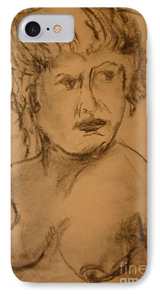 IPhone Case featuring the drawing Daydreaming Nude by Gabrielle Schertz