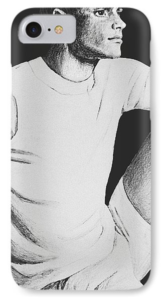 IPhone Case featuring the drawing Daydreaming by Sophia Schmierer