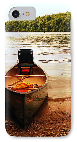 Days End At Walden Pond IPhone Case by James Kirkikis