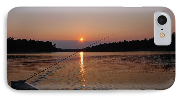 IPhone Case featuring the photograph Sunset Fishing by Debbie Oppermann
