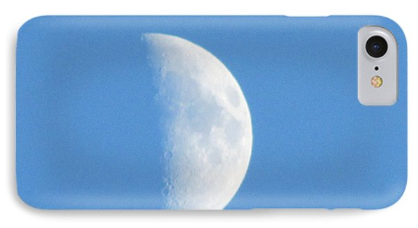Daytime Moon 3 IPhone Case by Kathy Long