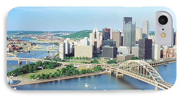 Daytime Skyline With The Delaware IPhone Case by Panoramic Images