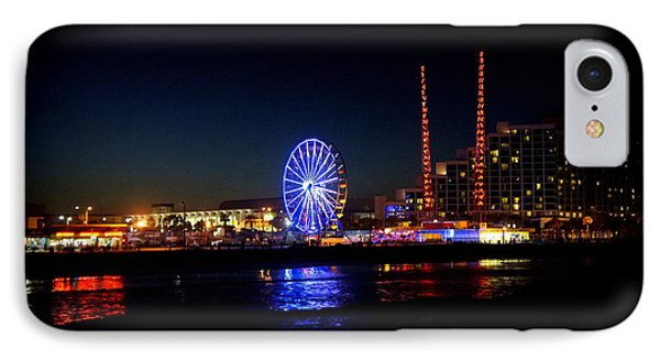 IPhone Case featuring the photograph Daytona At Night by Laurie Perry