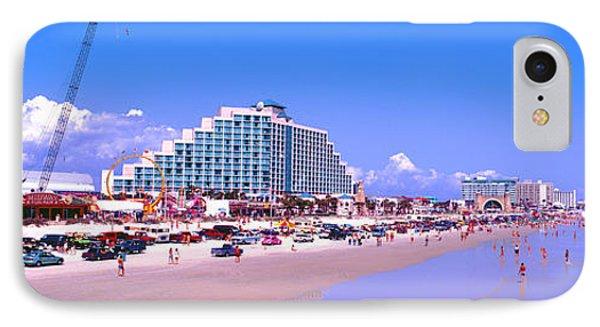 IPhone Case featuring the photograph Daytona Main Street Pier And Beach  by Tom Jelen