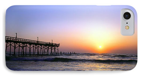 IPhone Case featuring the photograph Daytona Sun Glow Pier  by Tom Jelen