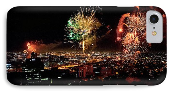 Dazzling Fireworks Iv IPhone Case by Ray Warren