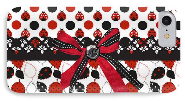 Dazzling Ladybugs  IPhone 7 Case by Debra  Miller
