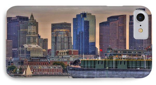 Dbl 134 Barge - Boston IPhone Case by Joann Vitali
