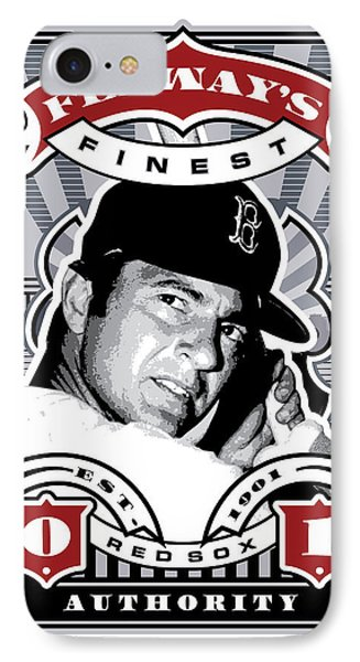 Dcla Carl Yastrzemski Fenway's Finest Stamp Art IPhone Case by David Cook Los Angeles