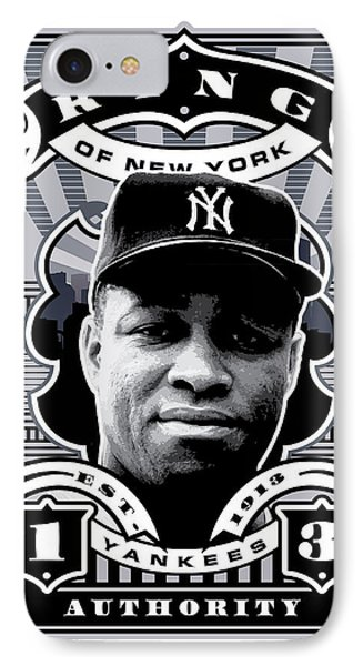 Dcla Elston Howard Kings Of New York Stamp Artwork IPhone Case by David Cook Los Angeles
