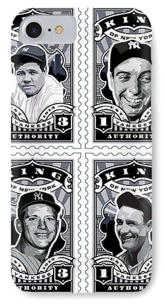 Dcla Kings Of New York Combo Stamp Artwork 1 IPhone 7 Case by David Cook Los Angeles
