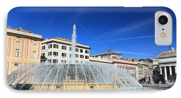 IPhone Case featuring the photograph De Ferrari Square - Genova by Antonio Scarpi