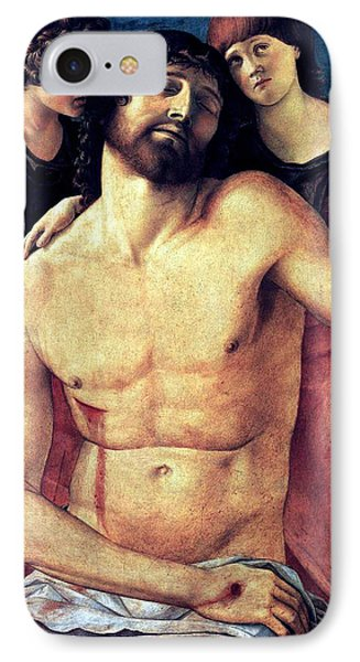 IPhone Case featuring the painting Dead Christ Supported By Angels 1485 Giovanni Bellini by Karon Melillo DeVega
