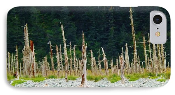 IPhone Case featuring the photograph Dead Forest Alaska by Brigitte Emme