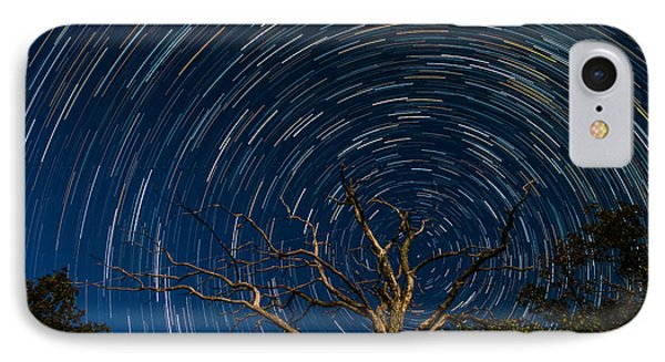 Dead Oak With Star Trails IPhone Case by Paul Freidlund