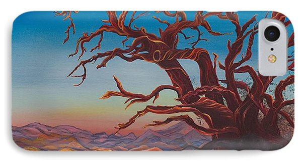 IPhone Case featuring the painting Dead Tree by Yolanda Raker
