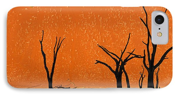 Dead Trees By Red Sand Dunes, Dead IPhone Case by Panoramic Images