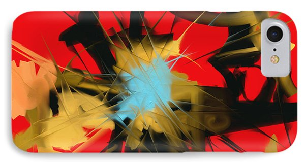 IPhone Case featuring the digital art Deadly Fight by Martina  Rathgens