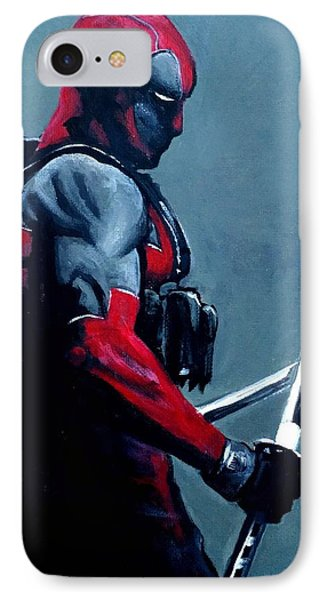 Deadpool IPhone Case by Tom Carlton
