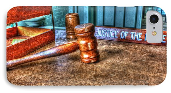 Dealing Justice IPhone Case by Dan Stone