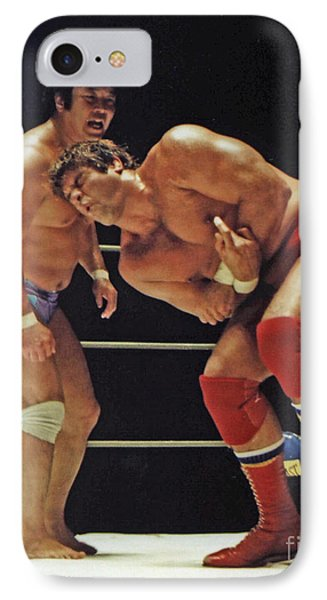 Dean Ho Vs Don Muraco In Old School Wrestling From The Cow Palace Phone Case by Jim Fitzpatrick