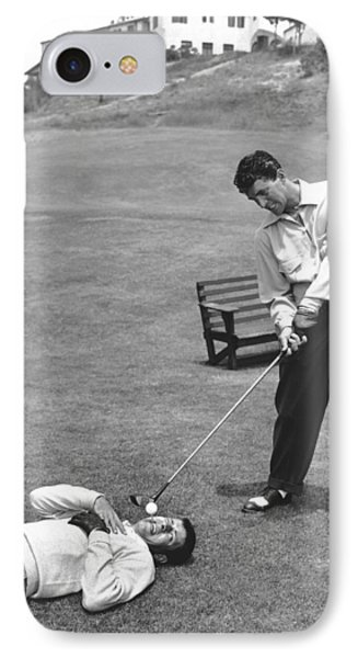 Dean Martin & Jerry Lewis Golf IPhone Case