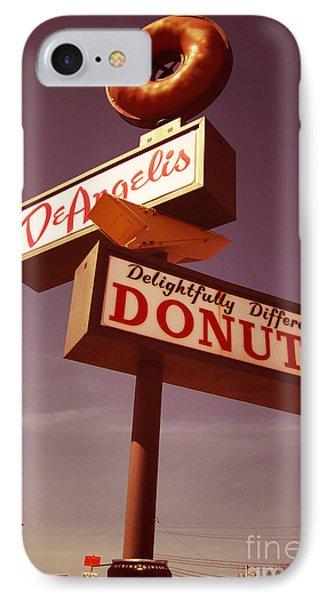 Deangelis Donuts IPhone Case by Jim Zahniser