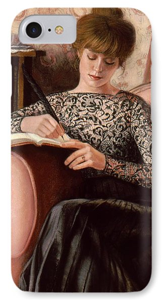 IPhone Case featuring the painting Dear Diary by Sue Halstenberg