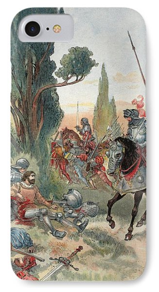 Death Of Bayard, Illustration IPhone Case