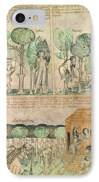 Death Of Cain; Entering The Ark IPhone Case by British Library