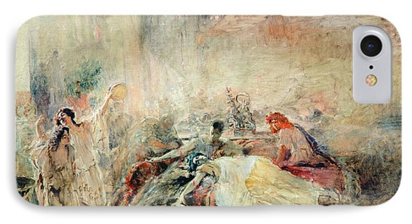 Death Of Claudius Caesar Nero Ad 37-68 Oil On Canvas IPhone Case