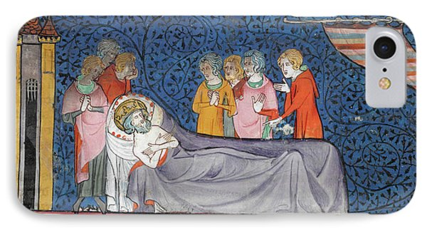 Death Of King Louis Ix IPhone Case by British Library