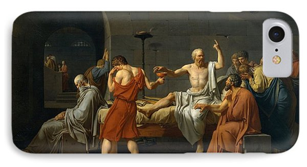 Death Of Socrates IPhone Case by Jacques Louis David
