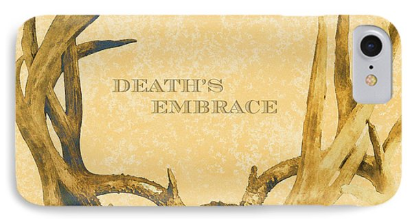 Death's Embrace IPhone Case by Paul Ashby Antique Image