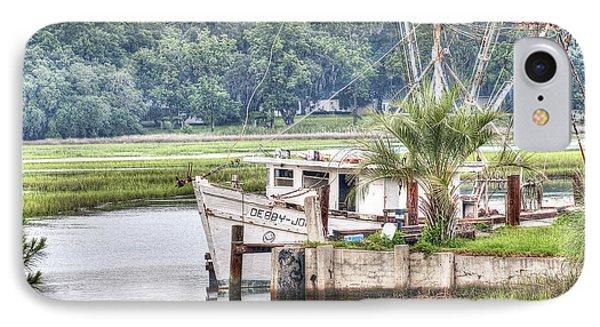 Debby John Shrimp Boat IPhone Case by Scott Hansen