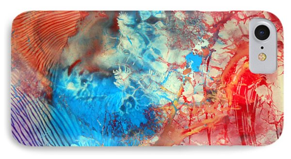 Decalcomaniac Colorfield Abstraction Without Number Phone Case by Otto Rapp