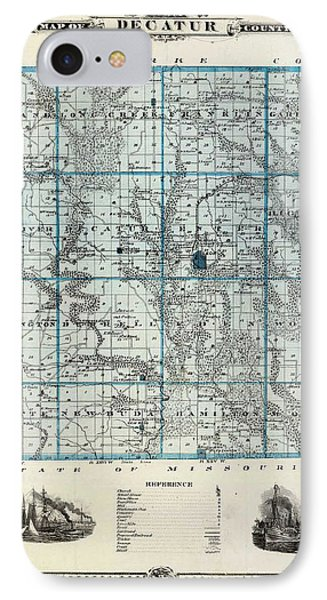 Decatur County Map Phone Case by Gianfranco Weiss