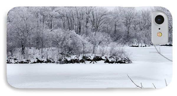 IPhone Case featuring the photograph December Lake by Debbie Hart