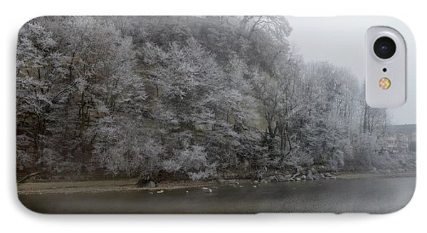 IPhone Case featuring the photograph December Morning On The River by Felicia Tica