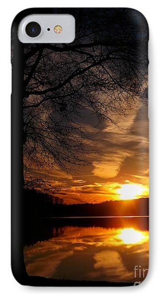 December Sunset IPhone Case by Christy Ricafrente