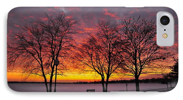 IPhone Case featuring the photograph December Sunset by Terri Gostola