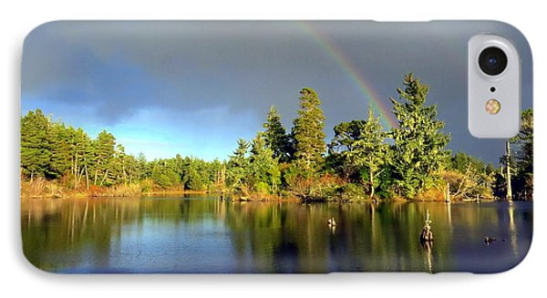 Decembers Double Rainbow Phone Case by Kristal Talbot
