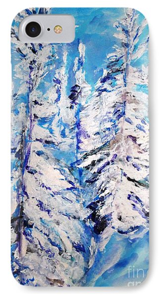 IPhone Case featuring the painting December's Solitude by Helena Bebirian
