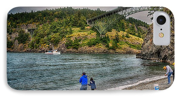 Deception Pass IPhone Case by Kelly Reber